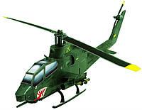 Сборная игровая модель из картона Вертолет Cobra (зеленый) серии Военная техника