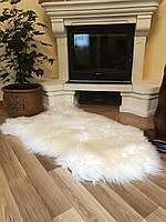 Шкура овечья великан, белый цвет, ковер, размер 140х80