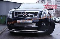 Защита переднего бампера труба d 76/42 двойная Союз 96 на Cadillac SRX 2011-2014