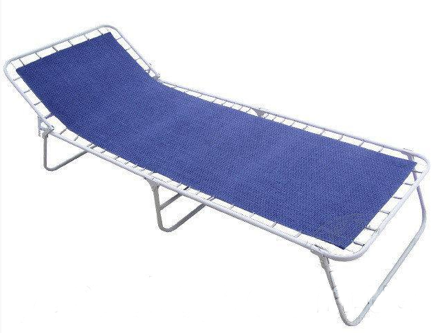 Раскладушка Standart-Retro 193х72 cм синяя