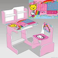 Парта школьная для девочек KITTY (Хелло Китти), розовая