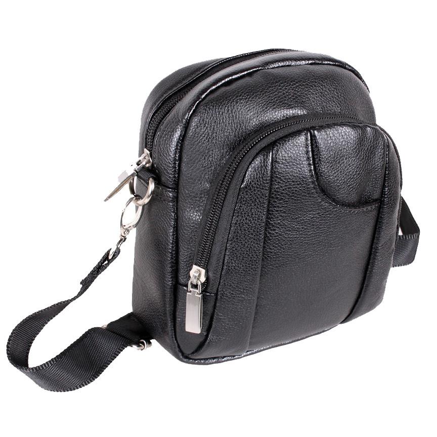 Мужская сумка из кожзаменителя 301471 черный