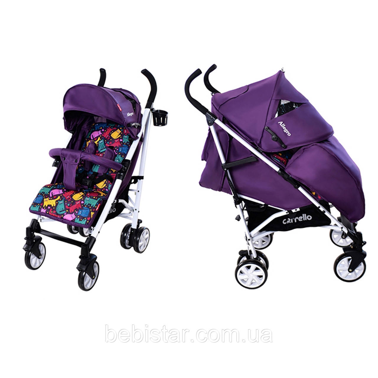 Детская коляска-трость CARRELLO Allegro CRL-10101 Kitty Purple