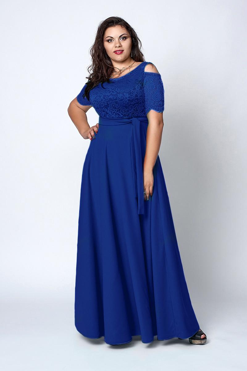 Платье мод 568-5, размер 52,54,56,58 электрик