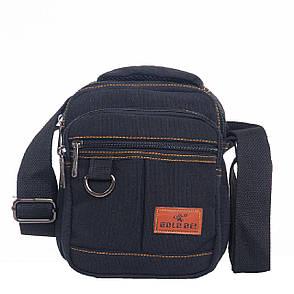 Мужская сумка вертикальная GOLD BE , 17х21х12 брезент ксС666ч, фото 2