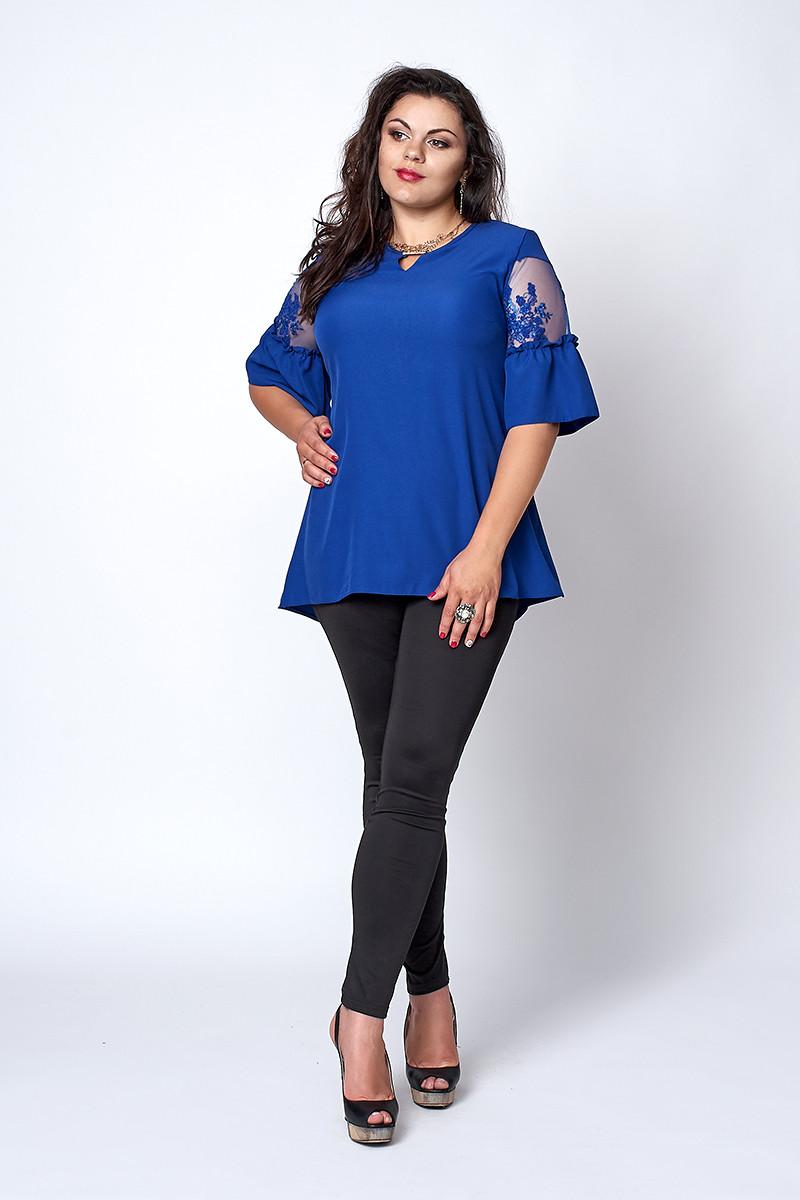 Блуза  мод 711-4 размер 52,54,56,58 электрик
