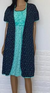 Комплект халат и ночнушка для беременных и кормящих в роддом 44 размер