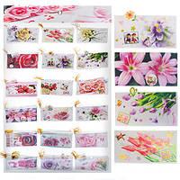 """Открытка-малышка """"Цветы"""" N00469 в наборе 144шт, бумага, открытки, поздравительные открытки, открытки ручной работы"""
