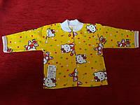 Кофточка детская желтая полотно начес р18