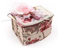 "Шкатулка для украшений ""Милая Дама Rose"" с зеркальцем, 14.8x12x9.2см"
