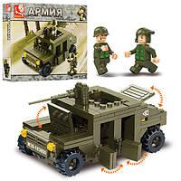 Конструктор SLUBAN M38-B0297, армия, военная машина, фигурки, 175дет, в кор-ке, 23, 5-19, 5-4, 5см