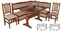 Кухонный уголок Назар-2 (стол + 2 стула или 3 табурет).
