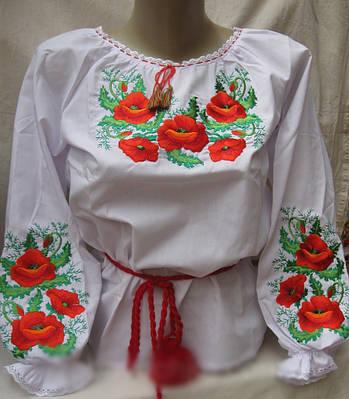 Вышитая блуза детская на поплине