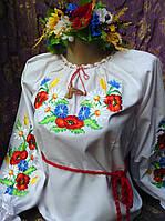 """Вышиванка на батисте """" Полевые цветы на колоске"""""""