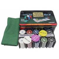 Покерный набор в металлической коробке Теха́сский хо́лдем №200Т-2