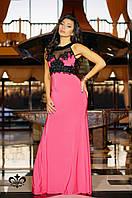 """Вечернее платье в пол """"Кассандра""""-розовый (без шлейфа), фото 1"""