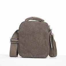 Мужская сумка GOLD BE вертикальная, 17х21х12 брезент цвет хаки ксС666х, фото 2
