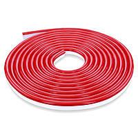 Гибкий неон 12В 2835 (120LED/м) IP65 красный