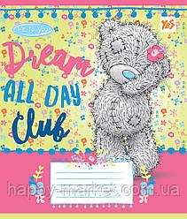Тетрадь школьная 12= листов линия цветная для девочки МИКС