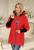 Куртка женская осень весна модная красная Арт Анна