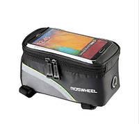 Сумка-бардачок для велосипеда Roswheel с отсеком для телефона 5.5 дюймов