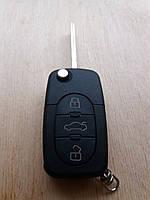 Корпус выкидного авто ключа для Audi A4, A6, A8 (Ауди A4, A6, A8) 3 ― кнопки