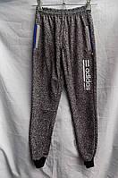 Детские спортивные штаны подросток весна-осень на манжете (34-42) серые оптом