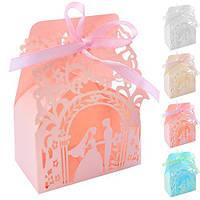 Бонбоньєрка (коробочка для цукерок) Jasmine N00487 в упаковці 50 шт, 10 * 7.5 * 4 см, бонбоньєрки, весільні бонбоньєрки, бонбоньєрки гостям,