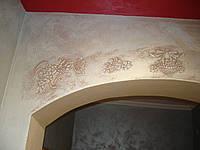 Нанесение декоративной штукатурки Декорирование арки