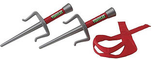 Набор игрушечного оружия серии ЧЕРЕПАШКИ-НИНДЗЯ - боевое снаряжение Рафаэль (2 кинджала, бандана)
