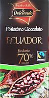 Горький классический шоколад Dolciando Ecuador 70% какао, 100 гр., фото 1