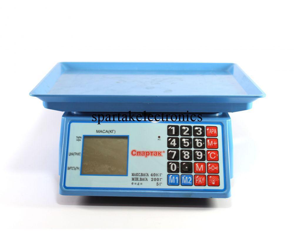 Торговые весы ACS 50kg/5g MS 586/986 Domotec 6V
