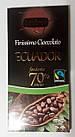 Гіркий класичний шоколад Dolciando Ecuador 70% какао, 100 гр., фото 2