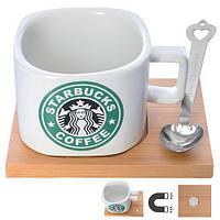 """Чашка керамическая """"Starbucks"""" N00582 объем 200мл, белая, чашки, кружка, посуда, столовая посуда, оригинальные чашки и кружки"""