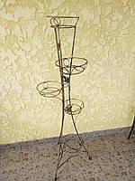 """Подставка кованая крученая для цветов """"Башня"""" на 5 вазонов"""