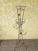 """Подставка кованая крученая для цветов """"Башня"""" на 5 вазонов , фото 3"""