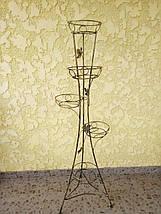 """Подставка кованая крученая для цветов """"Башня"""" на 5 вазонов , фото 2"""