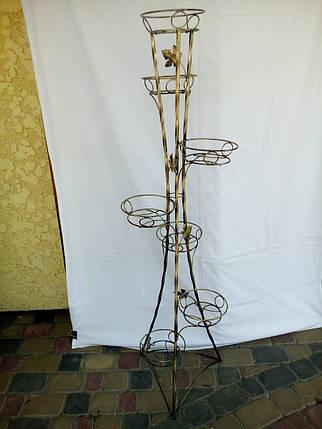 """Подставка кованая для цветов """"Башня крученая"""" на 7 вазонов, фото 2"""
