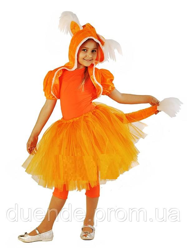 Лисичка карнавальный костюм для девочки, юбка с пачкой / BL - ДЖ94