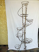 """Подставка кованая для цветов """"Спираль крученая"""" на 12 вазонов, фото 2"""