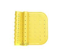 Антискользящий коврик на дно ванны желтый