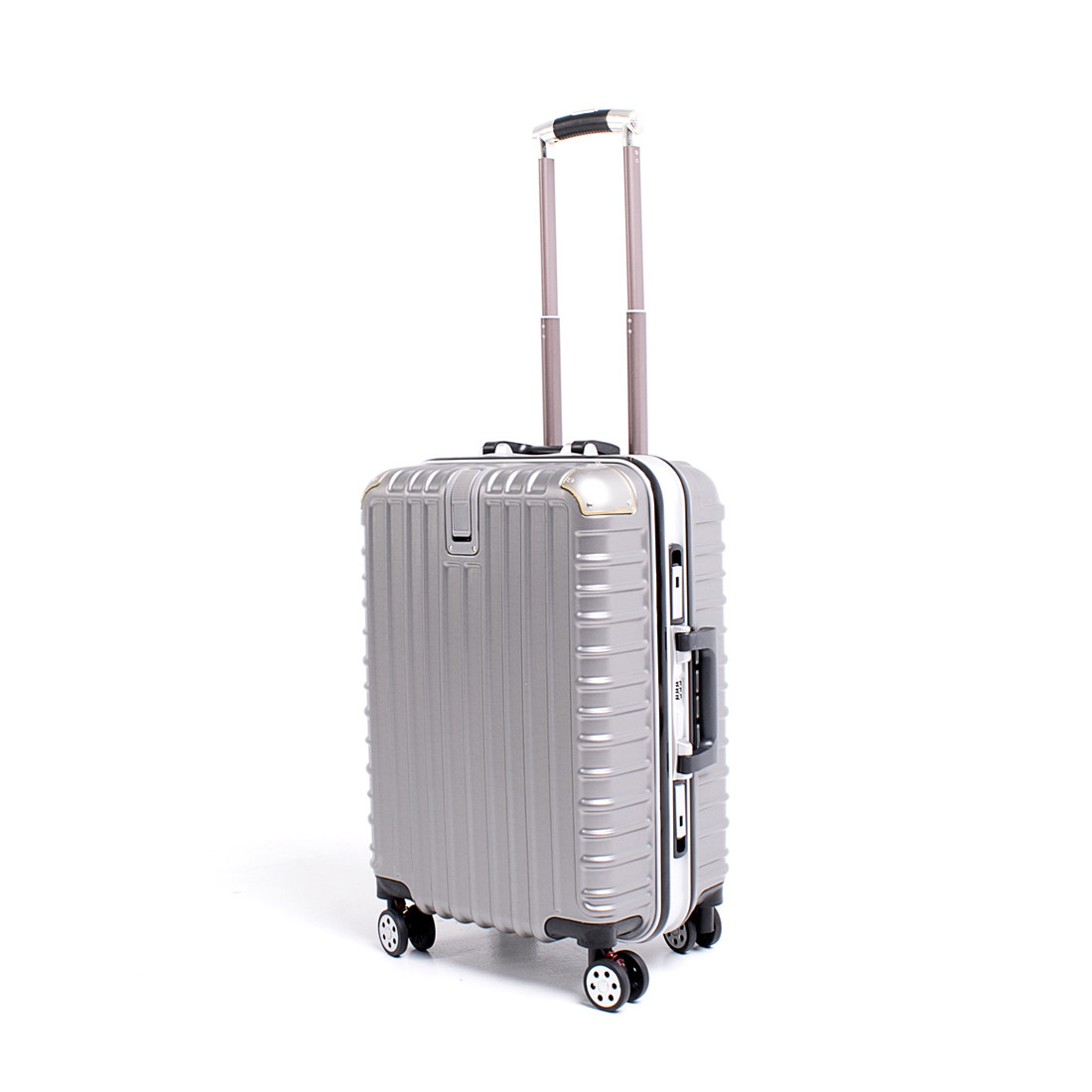 Чемодан BagHouse 4 колеса пластиковый 39х55х27 цвет тёмно-серый кс801мтсер