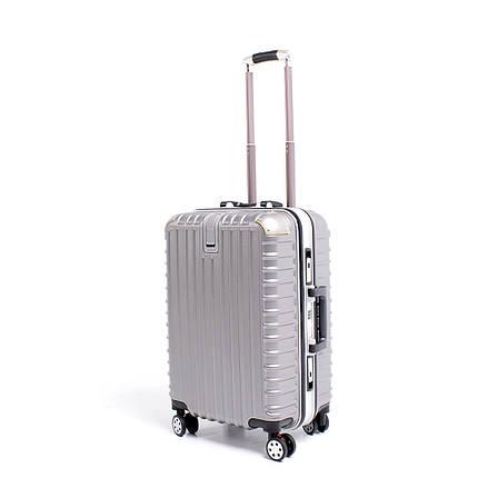 Чемодан BagHouse 4 колеса пластиковый 39х55х27 цвет тёмно-серый кс801мтсер, фото 2