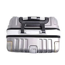 Чемодан BagHouse 4 колеса пластиковый 39х55х27 цвет тёмно-серый кс801мтсер, фото 3