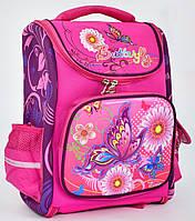 Ранець каркасний Метелики 1, 2, 3, 4 клас для дівчинки Шкільний рюкзак портфель ортопедичний