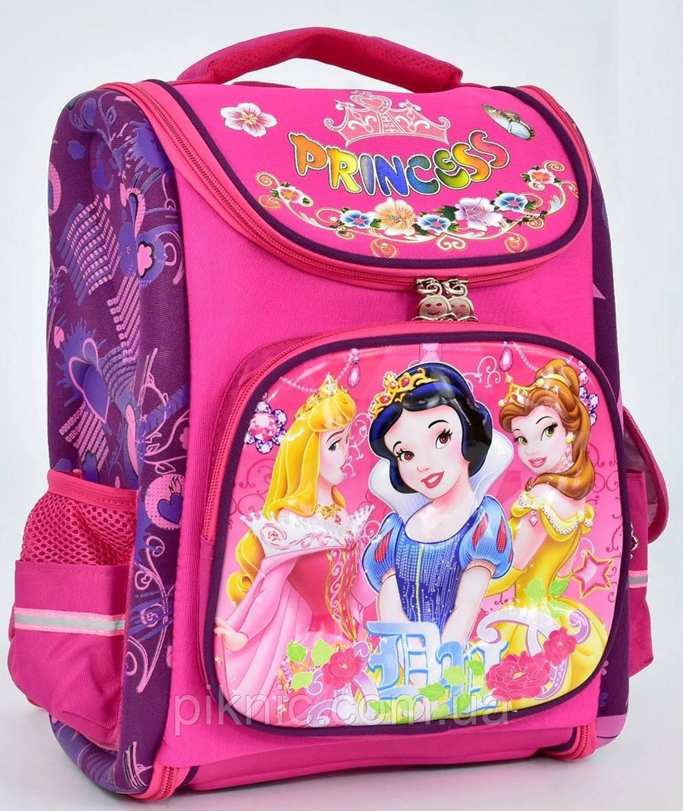 Ранец каркасный Принцессы 1, 2, 3, 4 класс для девочки Школьный рюкзак портфель ортопедический