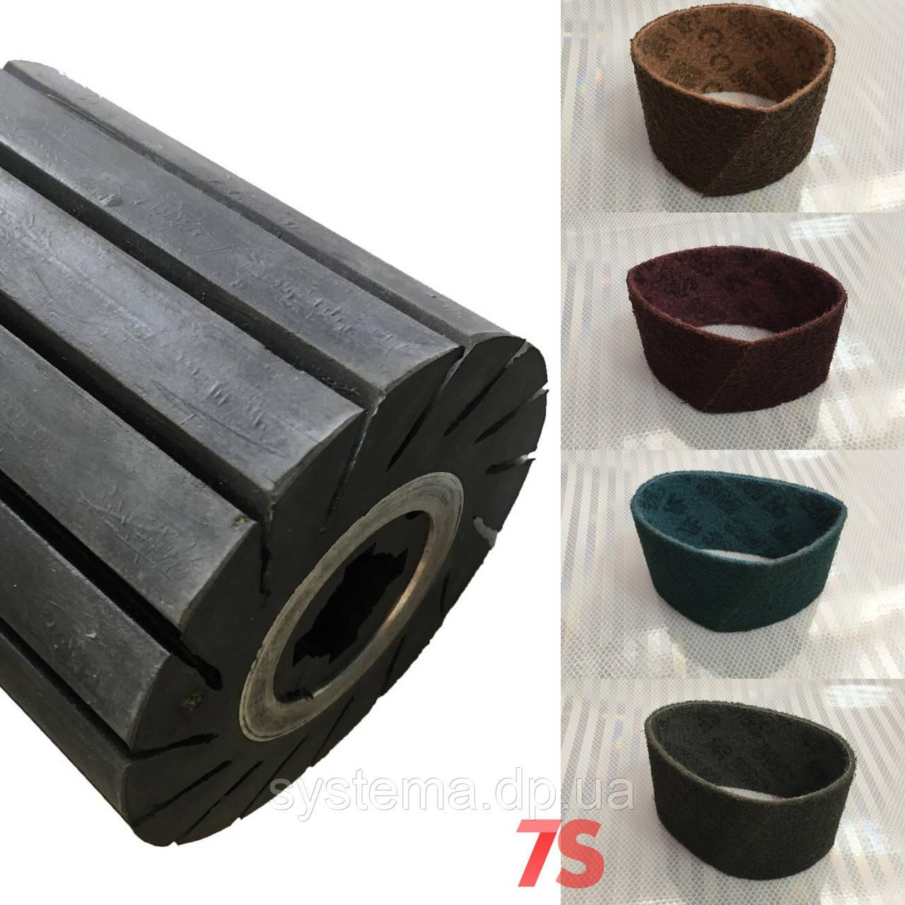 Шлифовальная лента скотч-брайт для резинового вала (барабана) - 3M Scotch-Brite, 100x286 мм
