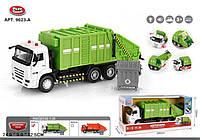 """Модель мусоровоз PLAY SMART 9623A """"Автопарк"""" метал.инерц.муз.свет.откр.дв"""