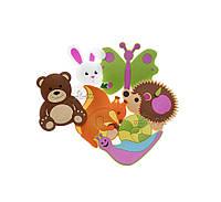 Набор игрушек на присосках для купания в ванной, Лесные животные
