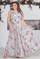 """Длинное платье в пол больших размеров """" Софт """" Dress Code"""